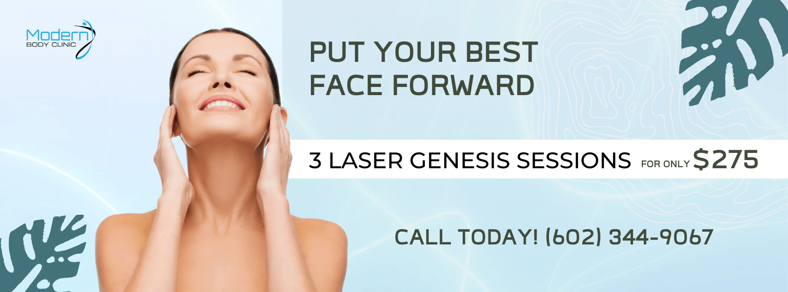 modern body clinic laser genesis special promo banner image