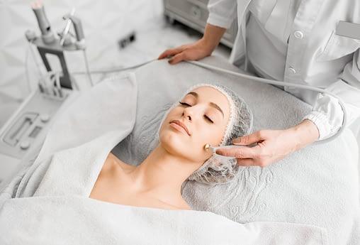 professional facial treatment