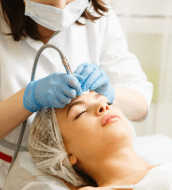 woman getting a laser genesis treatment