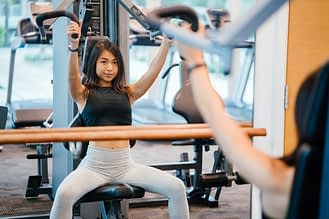 image of woman working out